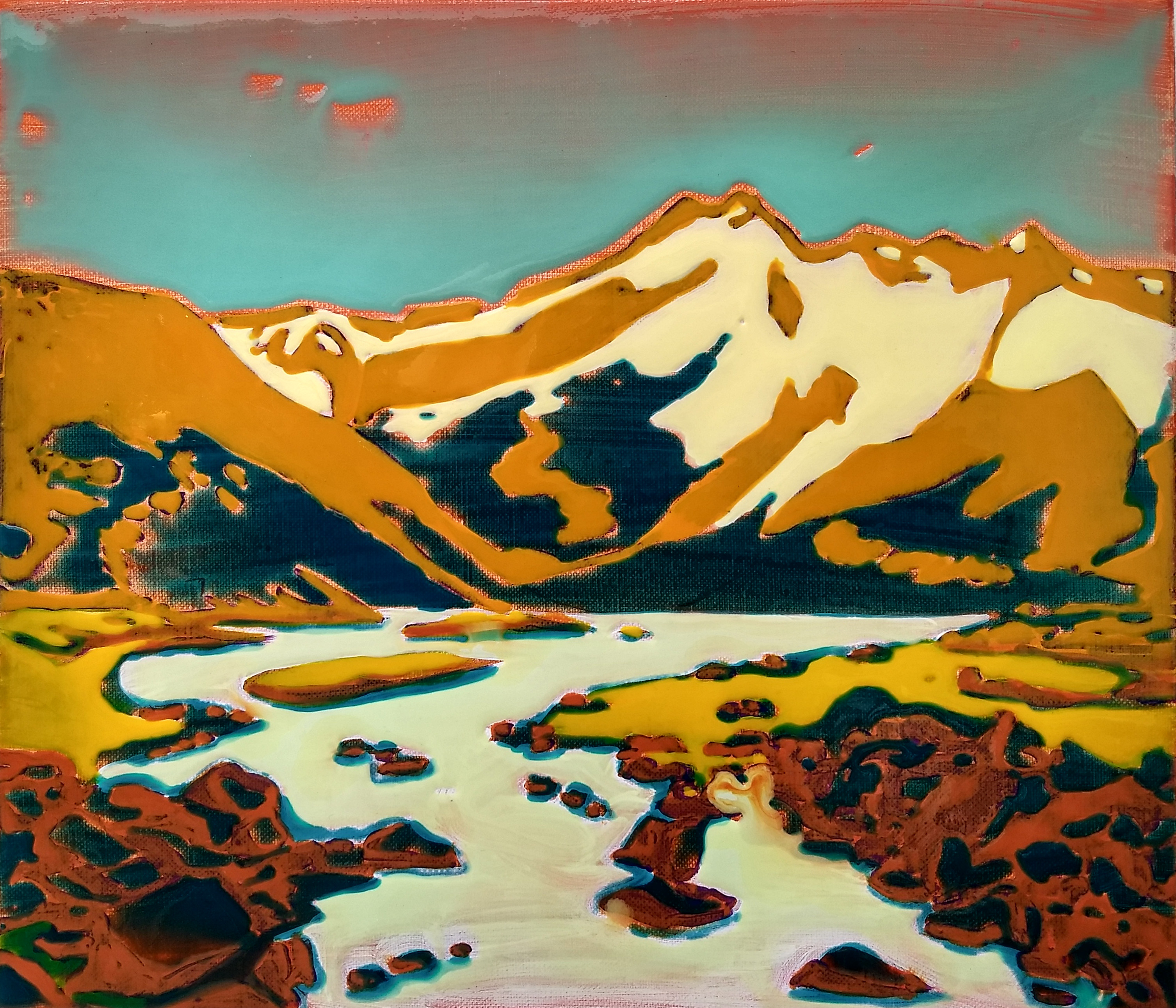 Mountains, epoxy on canvas, 40x45 cm_HDR