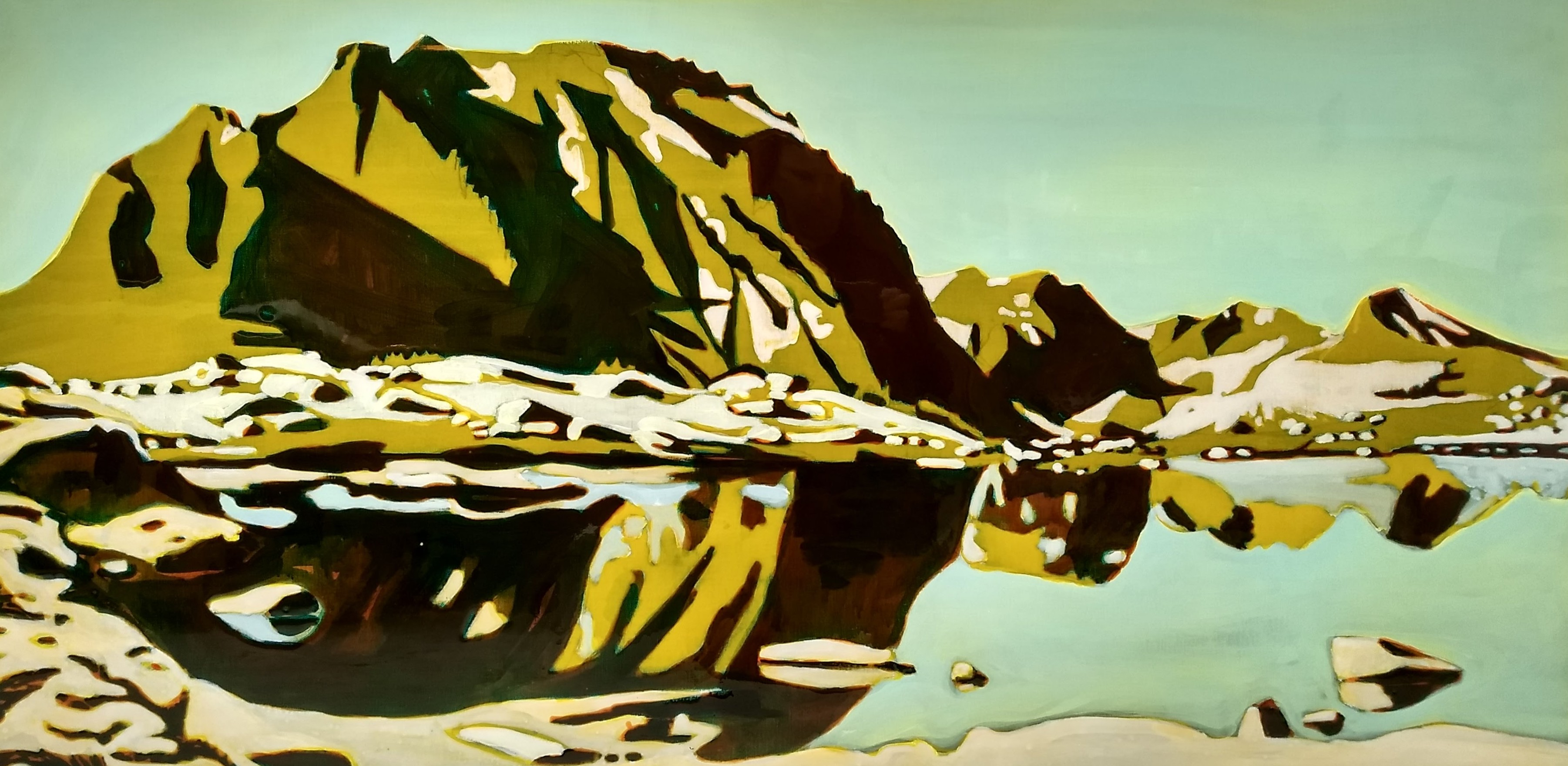 Pinchot Pass, epoxy on canvas, 70x140 cm, _HDR