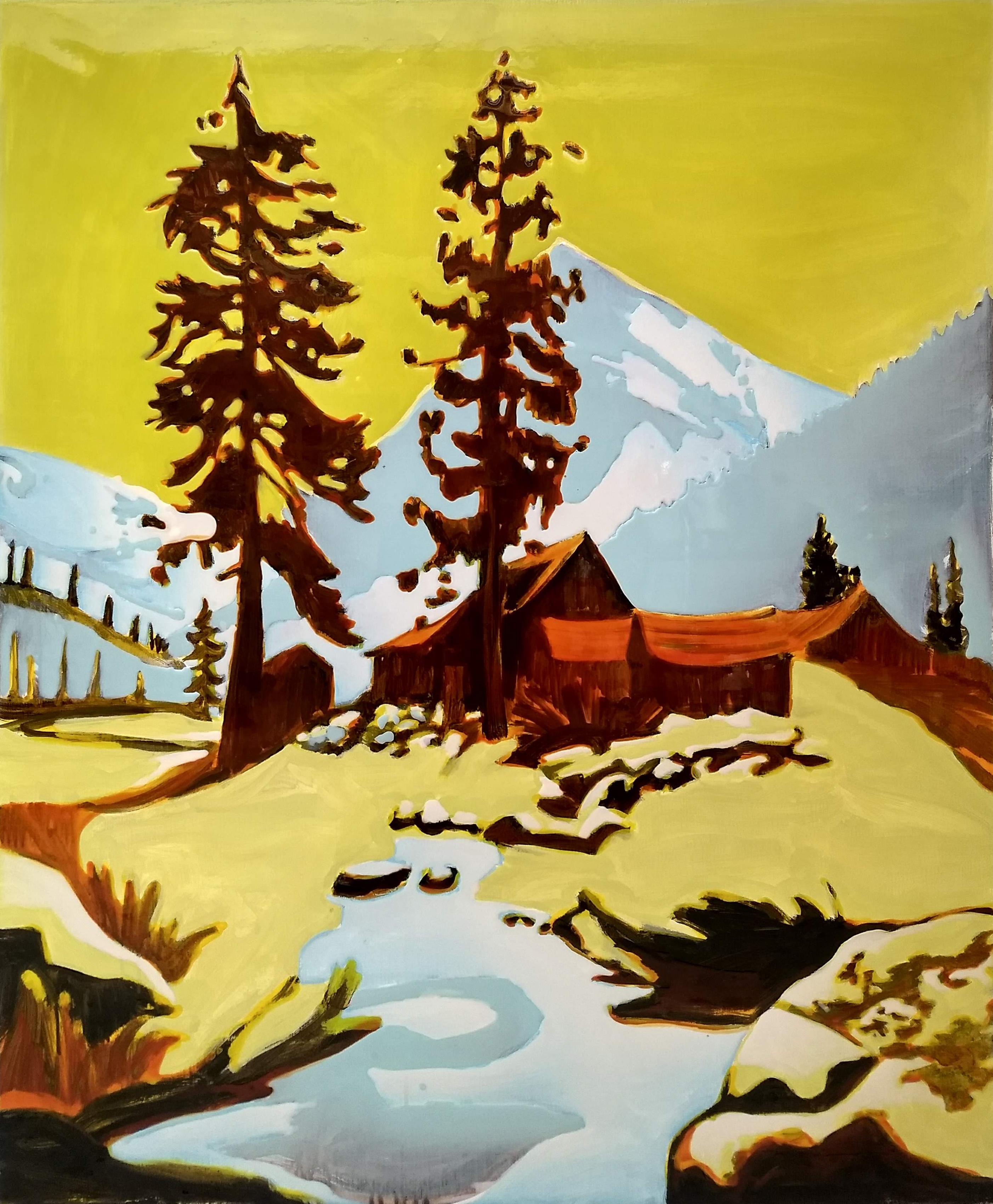 Snowy Farewell Gap, 120x100 cm, epoxy on canvas_HDR